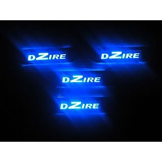 car door still plate blue led new dezre