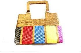 Benison  Multicolour Golden Handbag