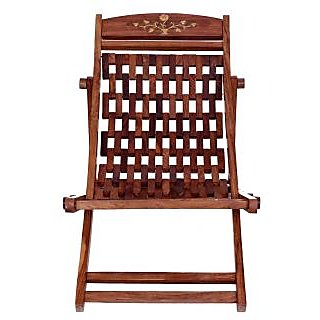 Folding Sheesham Wood Eassy Chair