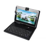 Usb Keyboard Leather Case Cover For 10'' 10 Inch 10.2 Inch Android 2.3 2.2 Tablet Pc Epad Apad 10.1 ' Micromax Funbook Pro , Zenithink , Superpad Flytouch