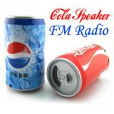 Cola Can Mp3 Player,Fm,Stereo Portable Multimedia Speaker,Built In Battery With Usb Rechargable