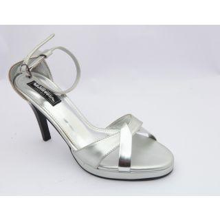 Get Glamr Women Silver Sandals-0359