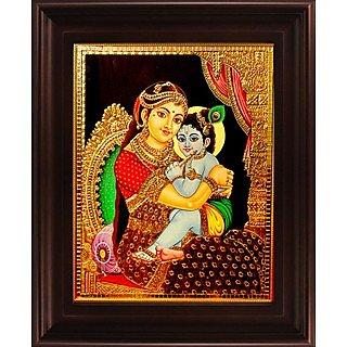 Myangadi Yasotha Krishna Tanjore Painting Myaz043-S5