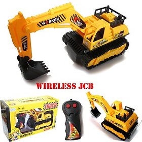 Wireless Battery Operated Jcb Crane Truck Toys Car, Battery ( Included) Vehicle