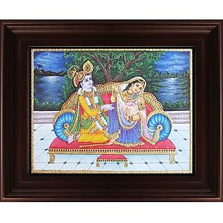 Myangadi Radha Krishna Tanjore Painting Myaz076-S7