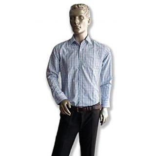 Benzoni Checks Formal Shirt Blue And Grey