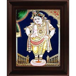 Myangadi Vittoba Krishna Tanjore Painting Myaz074-S9