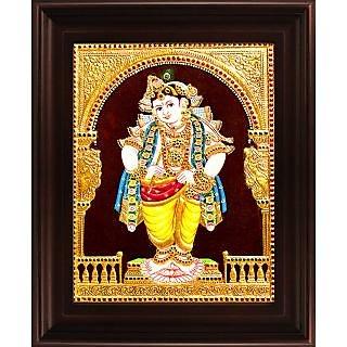 Myangadi Mappillai Krishna Tanjore Painting Myaz065-S10