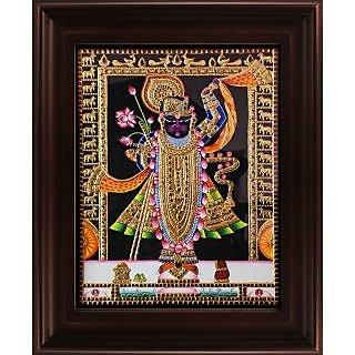 Myangadi North Indian Style Krishna Tanjore Painting Myaz067-S5