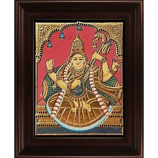 Myangadi Antique Saraswathi Tanjore Painting Myaz127-S5