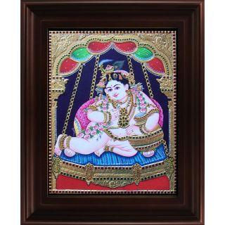 Myangadi Krishna Swinging Tanjore Painting Myaz087-S9