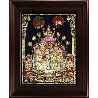 Myangadi Kubera Lakshmi Tanjore Painting Myaz112-S10
