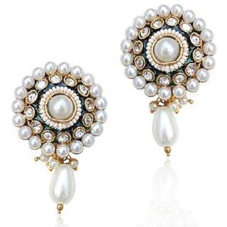 Adiva Glowing Pearl Polki Warm Glowing Earring