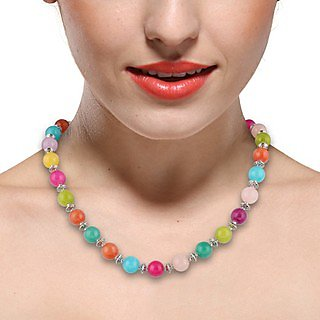Pearlz Ocean  18 Dyed Quartzite Beads Necklace