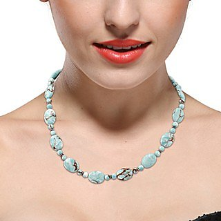 Pearlz Ocean Kittened Mosaic Beads 18 Inches Necklace