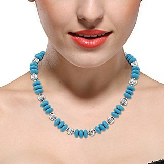 Pearlz Ocean Royale Mosaic Beads 18 Inches Necklace