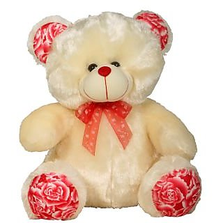 Teddy With Flower Print Pink 12