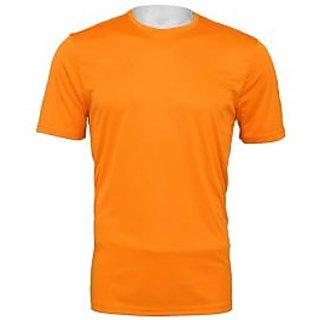 Orange Cotton Sports Tshirt