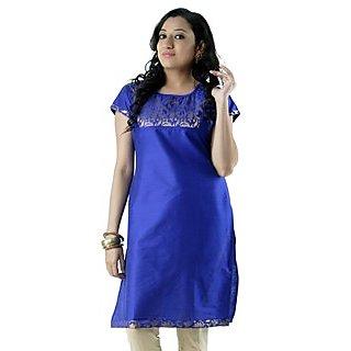 Stylish Cotton Blue Women Casual Kurti HIFI27BLUS