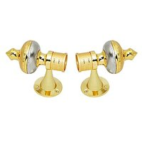 SmartShophar Curtain Bracket-Galax Zinc Inner Dia. 28 Mm Gold