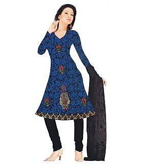 Exclusive Designer Blue Embroidered Dress Material