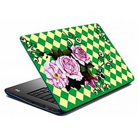 MeSleep Green Rose Laptop Skin