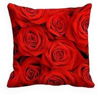 Mesleep  Rose Birdsprinted Cushion Cover (16X16)   Sleek