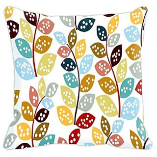Mesleep Flower Digitally Printed  16X16 Inch Cushion Cover Resplendent