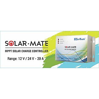 Su-Kam Mppt Solar Charge Controller 12V / 24V - 20 Amp (Solar Mate) Cde49