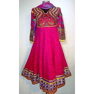 Pink Designer Anarkali Suit With Embroidery- KF 5045
