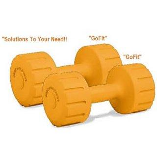Gofit PVC  Dumbbells 1 Kg X 2 Pcs. Dumbbells. Total 2 Kg Pvc