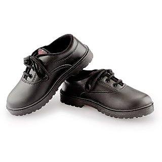 c4cf71f128b7 Aditi Kid s Cushion Black Faux Leather School Shoe