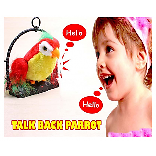 Talk Back Parrot Bird Toy IT IMITATES WHAT YOU SAY