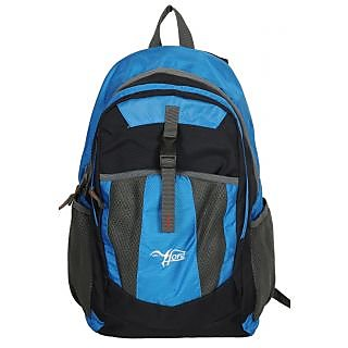 Polyester Backpack Blue And Black
