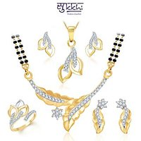 Sukkhi Royal Gold  Rhodium Plated CZ Combo