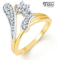 Sukkhi Sublime Two Tone CZ Ring