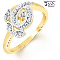 Sukkhi Beguilling Classy Two Tone CZ Studded Ring