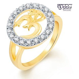 Sukkhi Alluring Two Tone CZ Studded Ring