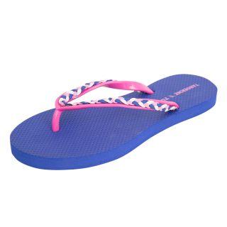 Women's EVA Braided Strap Slippers Purple
