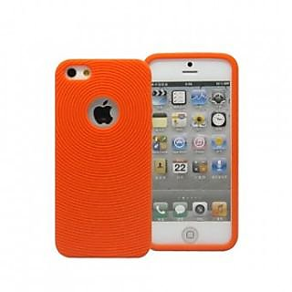 huge discount b9301 32afe SMOKE CIRCLE SOFT SILICONE CASE COVER FOR IPHONE 4 / 4S (ORANGE)
