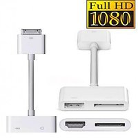 2 In 1 Dock 30 Pin 30pin Connector To HDMI Adapter Cable With 5 Pin Usb Adapter For Apple IPad 2 3 IPhone4 4G IPod Touch HDTV