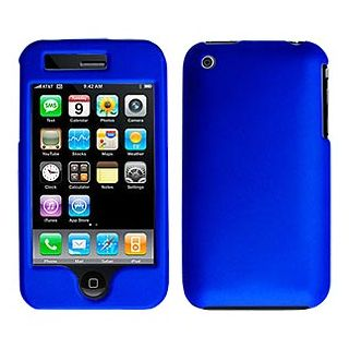 Amzer 81312 Rubberized Blue Snap On Crystal Hard Case