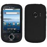 Amzer 89790 Silicone Skin Jelly Case - Black For Huawei Ideos U8150