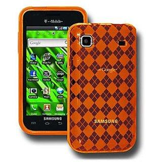 Amzer 88789 Luxe Argyle Skin Case - Orange for Samsung Galaxy S I9000