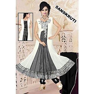 Khatli Work Soft Net Dress TYPE Sanskruti