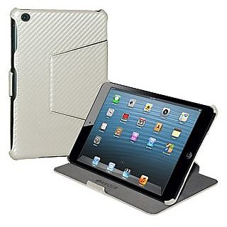Amzer 95177 Shell Portfolio Case - White Carbon Fiber Texture  Apple iPad mini