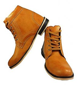 Elvace Comfortable golden Men Boot-5023