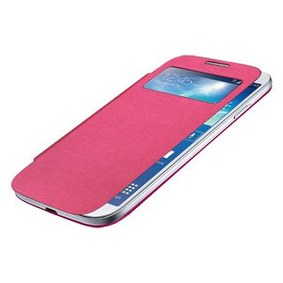 Amzer 96189 Flip Case with Swipe Window - Pink for Samsung GALAXY S4 GT-I9500