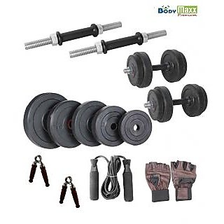 12 KG BODY MAXX PREMIUM HOME GYM SET + DUMBELLS RODS 14