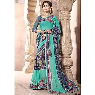 Jiya Women's Multicolor unstiched Saree Material With Chiffon Pallu